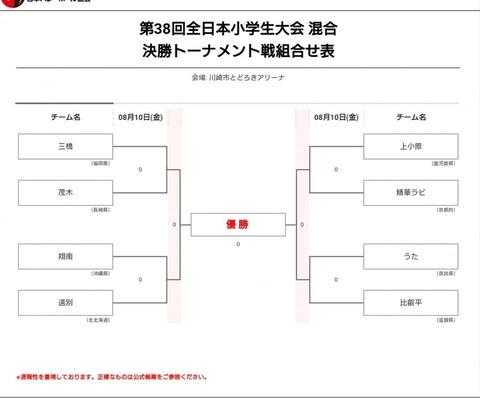 全日本小学生混合決勝組み合わせ