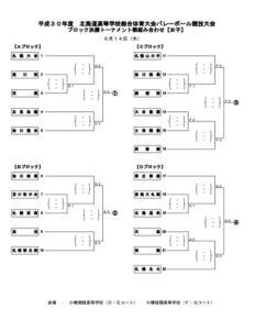 道高校総体女子トーナメント組合せ