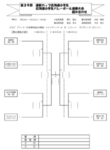 2019 道新道東混合組合せ